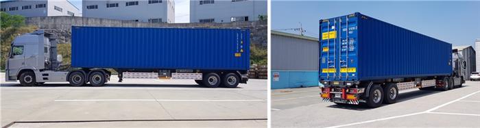 국토교통부는 현대자동차의 자율주행 대형트럭에 대해 임시운행을 허가한다고 2일 밝혔다. 사진은 현대차 자율주행 트럭 외관. 사진/국토교통부