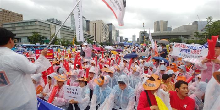 지난 8월 광화문광장에서 열린 소상공인 총궐기 대회. 사진/뉴시스