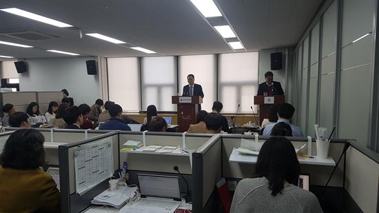 19일 금융위원회에서 열린 대형가맹점 카드수수료 산정 관련 브리핑. 사진/뉴스토마토DB