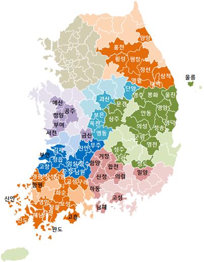 2020~2024년 성장촉진지역안. 사진/국토교통부.